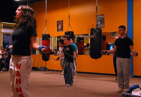 Fitness Through Boxing class